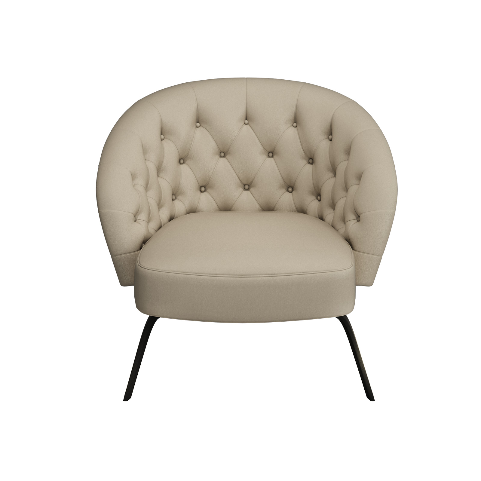 Lfda 010 Hotel Lobby Furniture Of Loose Chairs Used Leather Upholstered With Metal Tube Legs