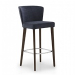 LFB-001 Modern Comfortable Wooden and Fabric Upholstered BarStools
