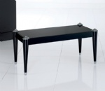 LFST-002 RECTANGULAR Sofa Table by Black laquered with Silver details