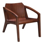 LFDA-002 Occasional Arm Chair by Chestnut wood frame