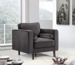LFDA-003 Grey Velvet Upholstered Accent Design Chair