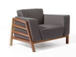 LFS-013 In futuristic style unique design Ash wood fascinating twist frame with Fabric upholstered cushion sofas