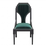 Rubber Wood chairs with Light luxury fabric upholstered China factory