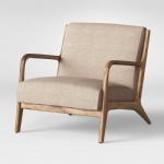 LFDA-008 Mid-century modern Armchair Unique style by decoration Wood frame and beautiful upholstered