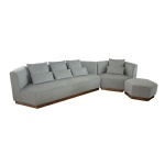 LFS-027 Combination sofa set for corner sofa with Ottoman by Fabric upholstered cushion