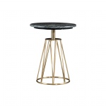 Sofa side table in Stainless steel racks with Marble top