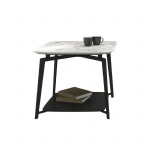 Nordic design Square Side Coffee table in Ash wood by Marble top