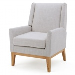 Hotels furniture Guest room Lounge Chairs light grey Fabric sponge upholstered Sofa chairs