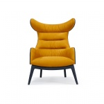 LFDA-016 Light Luxury design furniture of Leisure chairs for Living space seating by Curved wood and Fabric cushion
