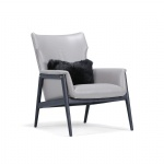 LFDA-017 Comfortable Accent chairs leisure room furniture in Light luxury design by Ash wood legs in Leather cushion