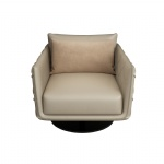 LFDA-009 Designer Furniture of Luxury decorative leather chairs used metal swirl legs for Lobby furniture