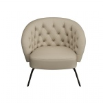 LFDA-010 Hotel Lobby furniture of loose chairs used Leather upholstered with Metal tube legs