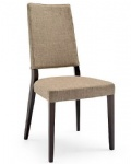 LFW-009 Simple Wooden Dining Chairs with Grey Fabric Cushion