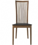 LFW-012 FSC-Certified Solid Wood Chair with Leather cushion