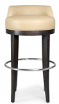 LFB-010 Upholstered Cushion Ash wood Commerical Barstool